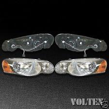 2005-2006 Chrysler Sebring Headlight Lamp Set of 2 Clear lens Halogen Sedan Pair