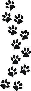 12 Katzenpfoten 4x4cm Pfoten Aufkleber Auto Wandtattoo