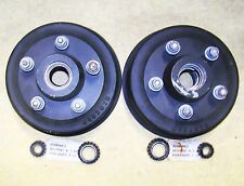 "2 8432978 Nos Aluminum 9"" Brake Drum 3/4/1-1/4 Axle Shaft W/ Bearings No Races"