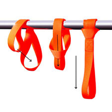 4x Orange Universal Soft Loop Tie Down Strap For Towing Cargo ATV UTV Motorcycle