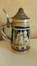 Vintage German Beer Stein with Pewter Lid CL19-18