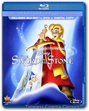 The Sword in the Stone Blu-ray/DVD/Digital HD New 50th Anniversary Edition