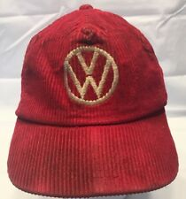 Heavily Used Corduroy Red Volkswagen Mechanics Hat Shop HTL