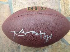 *ANTONIO BROWN*SIGNED*AUTOGRAPHED*FOOTBALL*PITTSBURGH*STEELERS*COA*NFL*