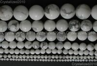 Natural White Turquoise Gemstone Round Beads 2mm 4mm 6mm 8mm 10mm 12mm 15.5""