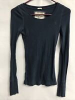 🌴Abercrombie & Fitch Women's S Small Blue Stretch Long Sleeve Shirt🌴