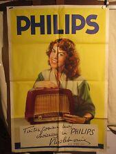 AFFICHE  RADIO PHILIPS MISS FRANCE  1952 SYMPA