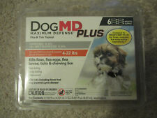Dog Md Plus Maximum Defense, Flea &Tick Topical*6 Month Supply* For Dogs 4-22lbs