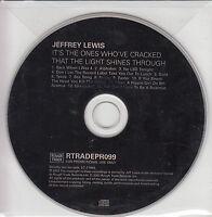 JEFFREY LEWIS It's The Ones Who've Cracked... 2003 UK 13-track promo CD