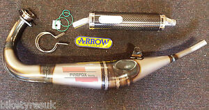 Honda NSR125 1992 - 2004 Arrow Performance Race Exhaust - Carbon Fibre