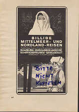 Hamburgo, publicidad 1931 hamburgo-sur-americana vapor-barco-fahrts-Gesellschaft