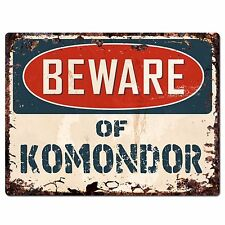 Ppdg0052 Beware of Komondor Plate Rustic Chic Sign Decor Gift
