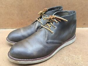 Red Wings Heritage 3138 Gray Chukka Leather Boots USA 10.5 D | UK 9.5 | EUR 44.0