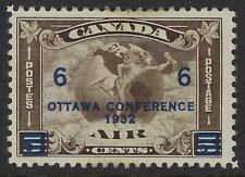 Scott C4: 6c on 5c Canada Airmail Mercury with Scroll in front of Globe, F-VF-HH