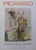 "1972 PABLO PICASSO ""BIRTHDAY"" ORIGINAL LITHOGRAPH FROM GALERIE FELIX VERCEL COA"