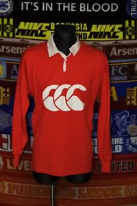 4.5/5 Canterbury adults L made in New Zealand retro rugby union shirt jersey