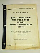 Navy 1968 Navships Marine Propulsion Tech Manual 0941-032-1010 Detroit Diesel