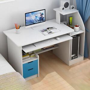 Corner Computer Desk Drawer PC Table Workstation Home Office Study Furniture New