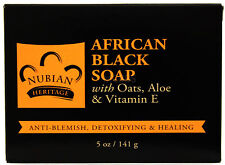 NUBIAN HERITAGE AFRICAN BLACK SOAP ANTI-BLEMISH HEALING SKIN BODY BAR SOAP 5 OZ.
