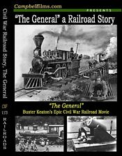 "Buster Keaton's Greatest Film-""The General"" Civil War Railroad Story Steam Train"
