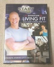 START FITNESS Operation Living Fit Boot Camp Fitness Tool Kit 3 DVD Set SPRI New