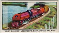 "East African Railways ""Beyer-Garratt"" Locomotive  Vintage Trade Ad Card"