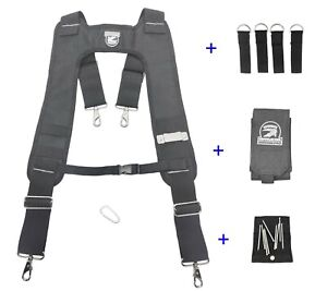 Gatorback B616 THE WORKS Deluxe Suspenders + Phone Case + Magnet Clip + Adapters