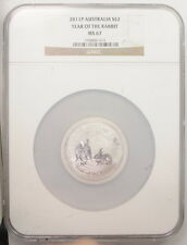 2011 P Australia $2 Two Dollar Year Of The Rabbit Lunar 2 Oz NGC Certified Coin