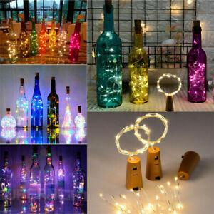 3M 30 LED Bottle TOP String Lights  Warm White Fairy Wine Cork Shaped Stopper UK