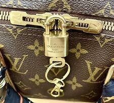 Louis Vuitton Padlock & Key Golden Brass -Fit Keepall Speedy Bag AUTHENTIC 🔐