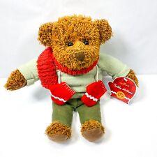 Hallmark Christmas Teddy Mittens Plush Bear 12in Holiday Stuffed Animal Toy
