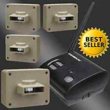 Wireless Alarm 4 Sensor Motion Alert Security System Driveway Patio Outdoor Home