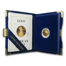 1989-P 1/10 oz Proof Gold American Eagle Coin - (w/Box & COA) - SKU #7495