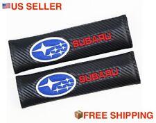 2x Stylish Black Carbon Fiber Seat Belt Cover Shoulder Pads for Subaru Wrx Sti