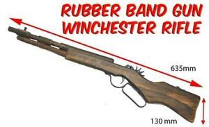 Rubber Band Gun Winchester Rifle Timber Gun Launcher Wooden Toy BRAND NEW