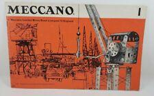 Meccano 1 Instruction Booklet 1/67 English Francais Hollands Deutsch Italiano