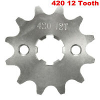 12 Tooth Teeth 420 17mm  Front Counter Sprocket for 70 110cc 125cc Pit Dirt