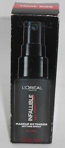 L'Oreal Infallible Maquillage Extendeur sans Huile Fixation Spray 1 Fl OZ Plume
