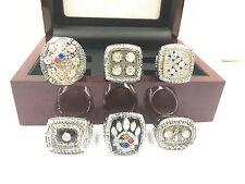 6PCS 1974 1975 1978 1979 2005 2008 Pittsburgh Steelers World Championship Ring