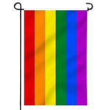12x18 Rainbow LGBT Gay Lesbian Flag 12'x18' sleeved sleeve garden pole