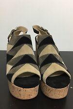 Nwt Marc Fisher Ltd. Queenie Patchwork Cork Platform High Heels Sandals Sz 10