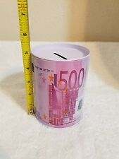 500 EURO TIN CAN COIN MONEY BANK **Cute ~ Great Gift ** Piggy Bank (Med.)