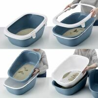 Cat Litter Tray with Sieve Filter Easy Clean Ideal for Large Breeds 6 Free Bags