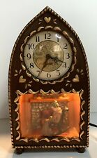 Vintage Haddon Motion Clock-The Mother-Model #25-Lights Up-Working Condition