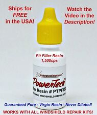 PowerTech Pit Filler Auto Glass Windshield Rock Chip Uv Repair Resin .5oz 15 ml