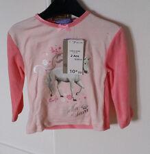 Pyjama velours NEUF rose avec visuel cheval Bella Sara taille  2 ans
