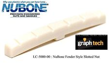 GRAPH TECH NUBONE TUSQ FENDER STYLE SLOTTED NUT CURVED BOTTOM FOR STRAT & TELE