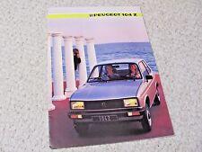 1985 PEUGEOT 104 Z SALES BROCHURE...