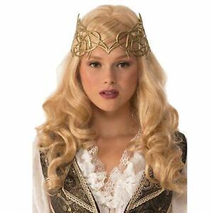 Women's Queen Princess Elven Celtic Vine Halloween Costume Gold Crown Accessory