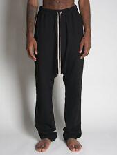$1100 Rick Owens fw10 Black Wool Pajama Swinger Pants XS two layers drop crotch